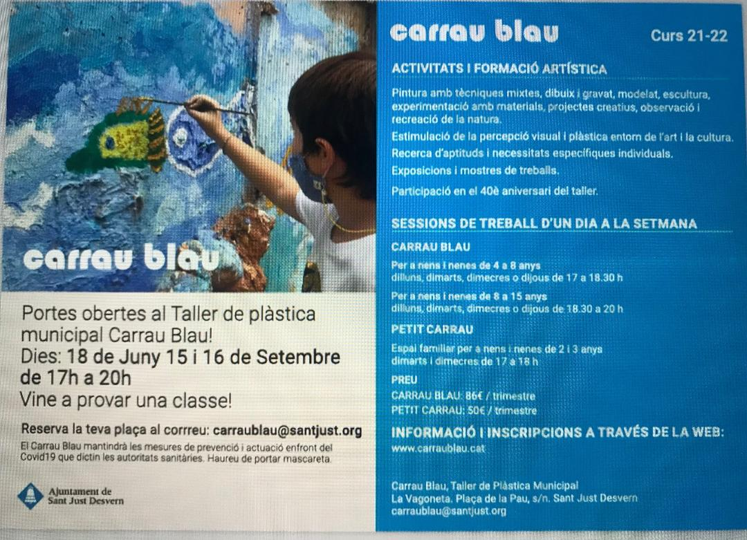 Portes obertes Carrau Blau curs 21-22!